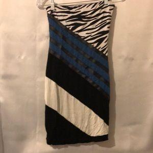 Women's Bebe Strapless Cocktail Dress